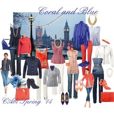 """Coral and Blue"" by leanne-m-zellmer on Polyvore www.jeanettemurphey.cabionline.com"