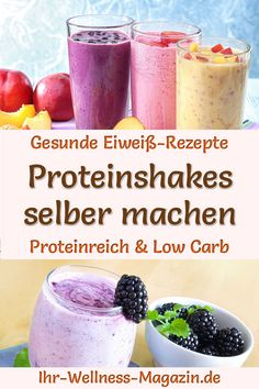 Make protein shakes yourself: recipes for low-carb protein shakes to lose weight and . - Make protein shakes yourself: recipes for low-carb protein shakes for weight loss and muscle buildi - Low Carb Protein Shakes, Protein Shake Recipes, Protein Snacks, Smoothie Recipes, Low Carb Recipes, Healthy Drinks, Lose Weight, Weight Loss, Chocolate Protein