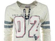 Buy Houston Texans GIII NFL Womens Kickoff Lace-Up T-Shirt T-Shirts Apparel and other Houston Texans products at Lids.com