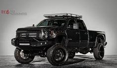 Rigid Industries Chevy Silverado - Photo by Kirb Photography Custom Lifted Trucks, Gm Trucks, Diesel Trucks, Cool Trucks, Chevy Trucks, 2011 Chevy Silverado, Lifted Chevy, Black Truck, Autos