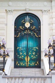 Clock above the door