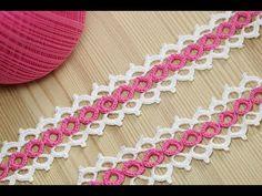 Learn to Crochet Ribbon Lace Crochet Boarders, Crochet Edging Patterns, Crochet Lace Edging, Lace Patterns, Crochet Stitches, Crochet Flowers, Irish Crochet, Crochet Cord, Crochet Chain