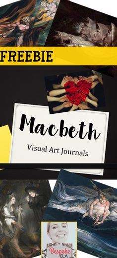 This FREE PRODUCT from Bespoke ELA contains a series of paintings and photographs that all relate in some way to Shakespeare's play Macbeth. The Power Point begins with four guiding questions that students will answer for each work of art in order to make connections between the visual image and the play.  These images because they illuminate a thematic idea from the play and/or character traits of key players in Macbeth.   These images are excellent resources to use as bell-ringers.