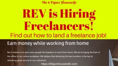 How to Land a Freelance Job at Rev | Are you interested in working from home? Rev hires 3 types of freelance positions - and it's FREE to apply! No experience necessary! Click here and apply today!  https://6figurehousewife.com/how-to-land-a-freelance-job-at-rev