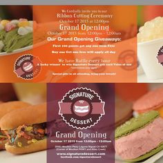 Grand Opening October 17,2015 from 12:00 AM to 12:00 PM.