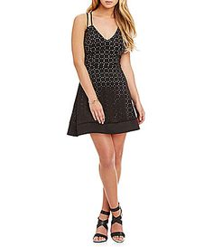 Teeze Me LaserCut FitandFlare Dress #Dillards