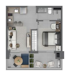 Plant illustration – Fit type 01 A House Layout Plans, My House Plans, Floor Plan Layout, Modern House Plans, Small House Plans, House Layouts, House Floor Plans, Studio Apartment Layout, Small Apartment Interior