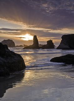 Bandon Beach on Oregon's Pacific coast