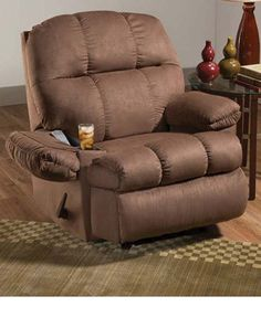 Rocker recliner cup holder