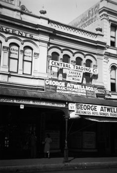 The Central Trading Co. was located in premises upstairs, above George Atwell's business, East Street, Rockhampton.