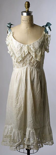 Chemise Date: ca. 1900 Culture: American Medium: cotton Dimensions: [no dimensions available] Credit Line: Gift of Mrs. Agnes Kremer, 1938 Accession Number: C.I.38.14.12