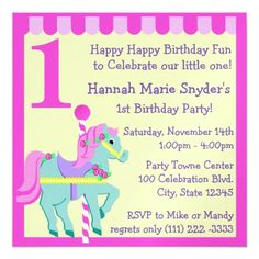 Painted Pony/ Birthday Personalized Invitation