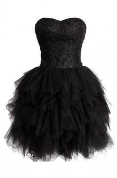 Sexy Ball Gown Sweetheart Knee Length Tulle Homecoming Dress With Beads Sequins HCS0009 | BGCP