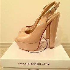 Steve Madden nude peep toe pumps New in box!!! Steve Madden Shoes Heels