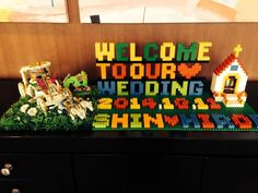 意外と人気♡「レゴ®ブロック」で作ったウエルカムボードが楽しい♡ -page4 | Marry Jocee