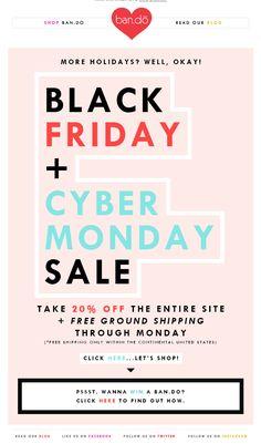 Ban.do Black Friday / Cyber Monday Sale