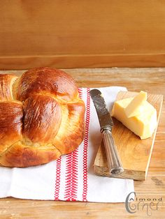Kalács - Hungarian Sweet Bread a bit like brioche or the jewish challah in form (braided)