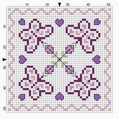 mausimom's: Zeitumstellung free chart biscornu butterflys cross stitch
