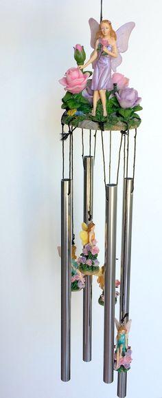 Fairy Roses Figure Wind Chime 24