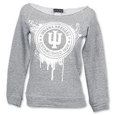 The NCAA Scoop Neck Women's Sweatshirt is a fashionable off the shoulders sweatshirt just for the ladies. Cheer on your team in this comfy sweatshirt any day of the week. The team name and logo are printed in a painted vintage style across the front.