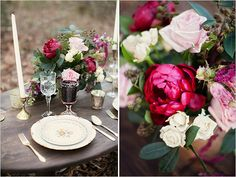 vintage table setting @weddingchicks