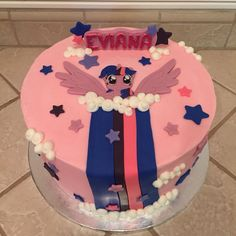 Twilight sparkle cake by Amber's Little Cupcakery