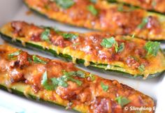 Chilli Stuffed Courgettes | Slimming Eats - Slimming World Recipes