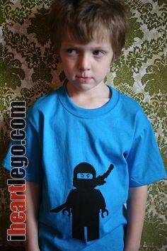 LEGO Ninjago  Screen printed tshirt by iLego on Etsy, $15.00