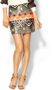 Sabine Carolina Geo Sequin Mini Skirt on shopstyle.com