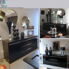 MÓVEL APARADOR lacado alto-brilho, cor preto piano como novo.... https://www.facebook.com/objecta.segunda.mao/