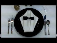 Video: The Tuxedo : Napkin Folding