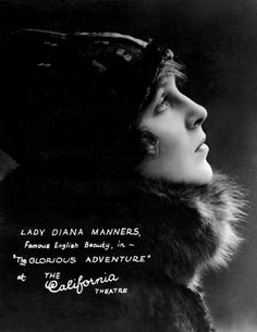 "Lady Diana Manners in ""The Glorious Adventure"" (1922)"