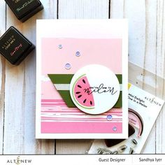 Description Intro Video Do you love watermelon? Biting into the cold, juicy fruit is a fond childhood memory for many of us. Now, you can add a fruity sentiment and image to your handmade projects to let your loved ones know just how much you care. This cute mini set includes a multi-layered melon and a punny sentiment Watermelon Patch, One In A Melon, Exotic Fruit, Flower Stamp, Clear Stamps, Scrapbook Pages, Scrapbooking, Craft Projects, Card Making