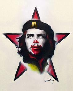 "Saatchi Online Artist: Eusebio Guerra; Acrylic, 2011, Painting ""Mc Che Guevara"""