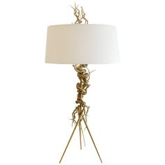 Twisted Brass Wire / Tripod Table Lamp  | From a unique collection of antique and modern table lamps at http://www.1stdibs.com/furniture/lighting/table-lamps/