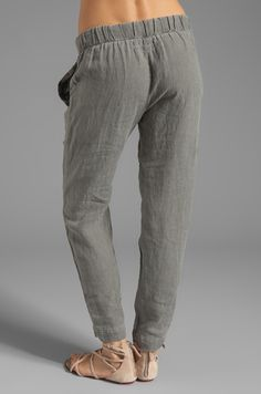 linen pants / wide leg / capri Pants / loose Trousers for girls ...