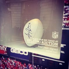 Legendary #NFL signed memorabilia on display at the #NFL Block Party on #RegentStreet. #Instagood #Sport #Legend #AmericanFootball #Football #USA