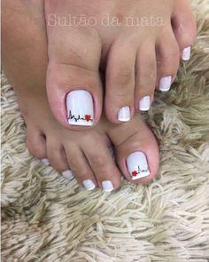 Installation of acrylic or gel nails - My Nails Pretty Toe Nails, Cute Toe Nails, Toe Nail Art, Gorgeous Nails, My Nails, Nail Nail, Nail Designs Toenails, Toe Nail Designs, Manicure And Pedicure