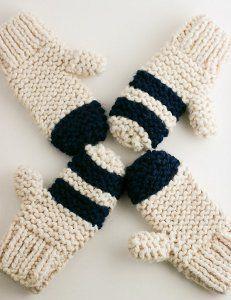 Thick Garter Stitch Mitts | AllFreeKnitting.com