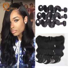 Cheap hair hair removal, Buy Quality hair bracelet directly from China hair face Suppliers: Mocha Malaysian Virgin Hair Body Wave 3 Bundles With Lace Frontal Closure With Bundles 13X4 West Kiss Virgin Hair With Bundles