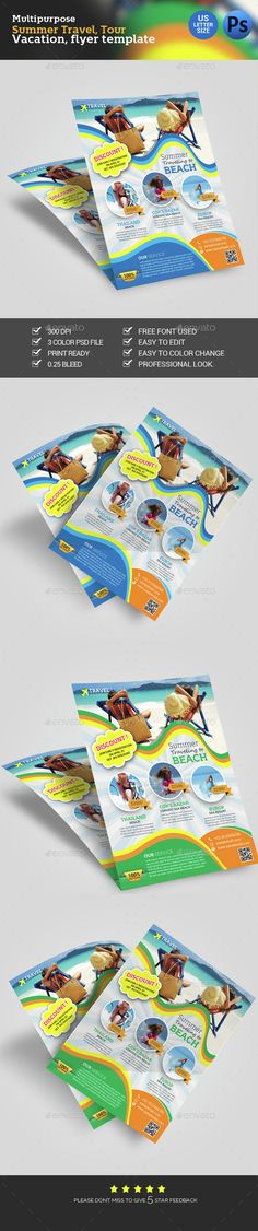 Travel Flyer Template PSD. Download here: http://graphicriver.net/item/travel-flyer/14858112?ref=ksioks