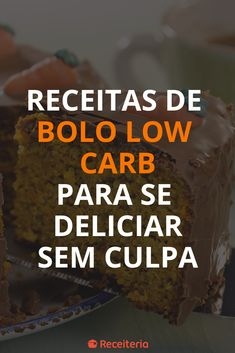 Receitas de bolo low carb para se deliciar sem culpa Best Protein Bars, Protein Cake, Low Carb Protein, Low Carb Diet Menu, Ketogenic Diet Meal Plan, Diet Meal Plans, Receita Bolo Low Carb, Bolos Low Carb, Quick Weight Loss Diet