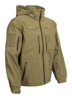 Bunda Gurkha Softshell s kapucňou - olivová Army Shop, Softshell, Military Jacket, Jackets, Fashion, Down Jackets, Moda, Field Jacket, Fashion Styles