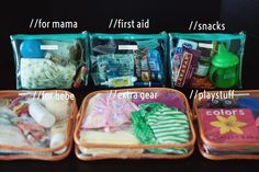 great idea for organizing your diaper bag or giant purse or whatever you carry all your mama stuff around in