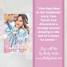 I love first lines! This one is from Stay with Me by Becky Wade #romantic #book #quotes