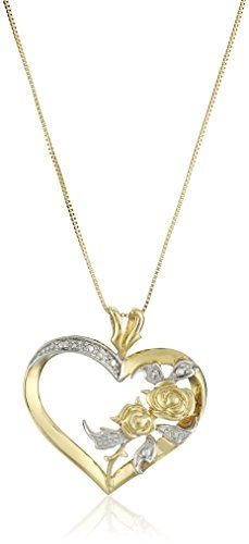 "http://picxania.com/wp-content/uploads/2017/08/10k-yellow-gold-diamond-accent-heart-pendant-necklace-18.jpg - http://picxania.com/10k-yellow-gold-diamond-accent-heart-pendant-necklace-18/ - 10k Yellow Gold Diamond Accent Heart Pendant Necklace, 18"" - Price: Yellow gold necklace with open heart-shape pendant featuring pair of roses and glistening accent diamondsBox chain with spring-ring claspAll our diamond suppliers confirm that they comply with the Kimberley Process to"