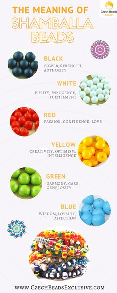 Do you want to create a stylish SHAMBALLA bead bracelet, but you are not sure what color to choose? Don't worry! Save this Shamballa beads color meaning guide for your beading experiments! What color would you like to choose? Write down in comments!