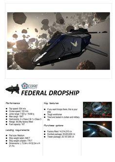 Elite: Dangerous Federal Dropship Core Dynamics Ships Brochure