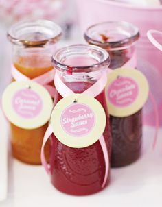 Dreamy Pink & Pastel Ice Cream Parlour Party: The Sauces