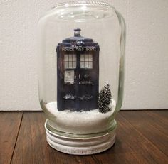 TARDIS in the Snow | Community Post: 12 DIY Decorations For A Geektastic Holiday